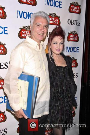 David Byrne and Cyndi Lauper - 58th Annual Village Voice Obie Awards - New York City, New York, United States...