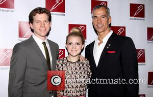 Stark Sands, Annaleigh Ashford and Jerry Mitchell - New Dramatists Spring Luncheon held at the Marriott Marquis Hotel - New...
