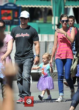 Mark Wahlberg, Rhea Durham and Grace Margaret Wahlberg - Mark Wahlberg and his wife Rhea Durham take their daughter Grace...