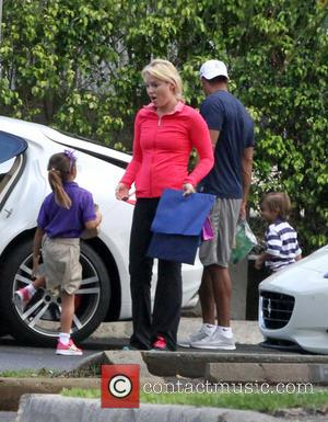 Tiger Woods, Lindsey Vonn, Sam Woods and Charlie Woods