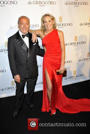 Fawaz Gruosi and Sharon Stone