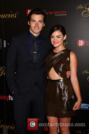 Ian Harding and Lucy Hale
