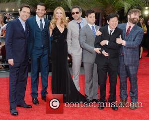 Ed Helms, Bradley Cooper, Heather Graham, Todd Phillips, Justin Bartha, Ken Jeong and Zach Galifianakis
