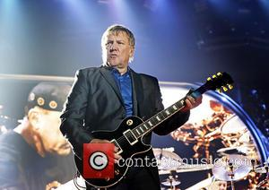 Alex Lifeson - Rush Performing on the first night of Their 'Clockwork Angels' UK Tour at Manchester Arena - Manchester,...