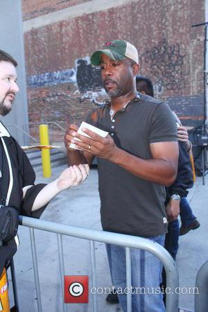 Darius Rucker - Darius Rucker signs autographs after his appearance on Jimmy Kimmel Live! - Los Angeles, CA, United States...