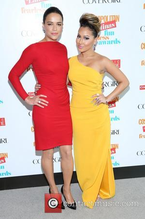 Michelle Rodriguez and Adrienne Bailon