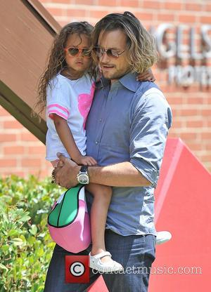 Nahla Aubry and Gabriel Aubry - Gabriel Aubry picks up his daughter Nahla Aubry from school - Los Angeles, California,...