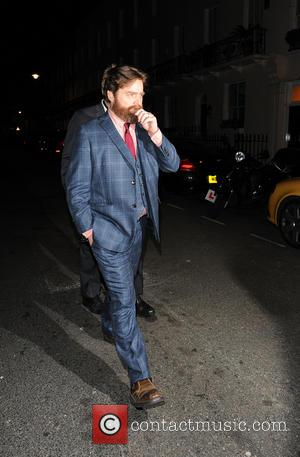 Zach Galifianakis - Celebrities leaving 'The Hangover Part III'' Afterparty held at Roka restaurant. Bradley Cooper and Zach Galifianakis then...