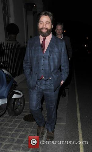 Zach Galifianakis - Celebrities leaving a private party in Chelsea - London, United Kingdom - Thursday 23rd May 2013