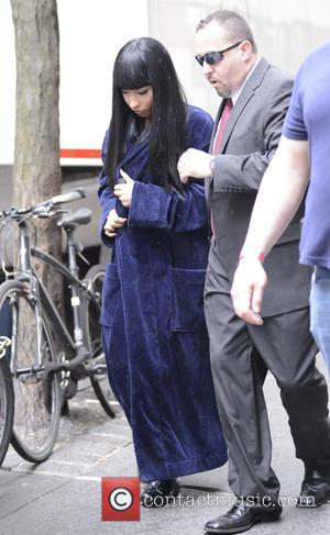 Nicki Minaj - Nicki Minaj seen on the set of...