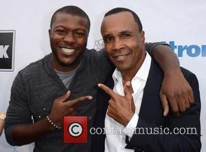 Aldis Hodge and Sugar Ray Leonard