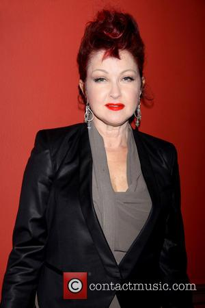 Cyndi Lauper - The 2013 Outer Critics Circle Awards held at Sardi's restaurant - Arrivals - New York City, NY,...