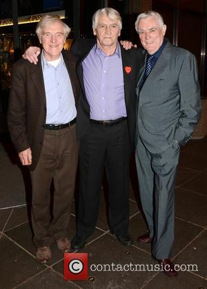 Eamon Morrissey, Jim Bartley and Tom Jordan - Celebrities outside the RTE Studios for 'The Late Late Show' - Dublin,...