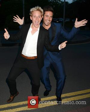 Jamie Laing and Spencer Matthews - Celebrities outside the RTE Studios for 'The Late Late Show' - Dublin, Ireland -...