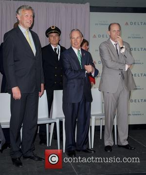 Mayor Michael Bloomberg and Richard Anderson - Press conference to unveil Delta's new state-of-the-art Terminal 4 at JFK, featuring significant...