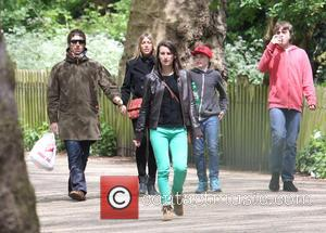 Liam Gallagher, Nicole Appleton, Gene Gallagher and Lennon Gallagher - EXCLUSIVE Liam Gallagher and his wife Nicole Appleton walking home...