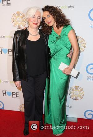 Olympia Dukakis and Melina Kanakaredes - The Greek America Foundation's Gabby Awards at the El Capitan Theatre - Hollywood, California,...