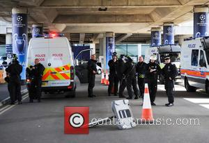 Police - Atmosphere ahead of the 2013 UEFA Champions League Final at Wembley Stadium - London, United Kingdom - Saturday...