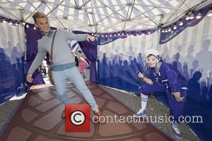 Jeff Brazier - TV presenter Jeff Brazier pays a visit to the Cadbury Dairy Milk Marvellous Creations Travelling Funfair at...