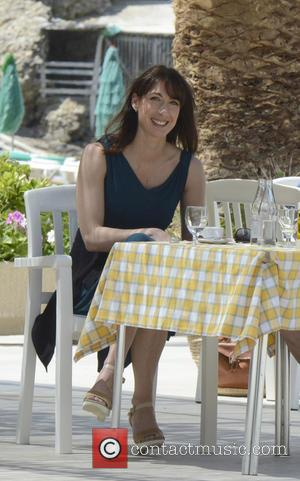 Samantha Cameron - Prime Minister David Cameron enjoys lunch with his wife, Samantha during a holiday in Ibiza - Ibiza,...