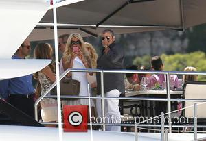 Victoria Silvstedt - Victoria Silvstedt spends time onboard Sir Philip Green's luxury yacht 'The Lionheart' during the 2013 Monaco Grand...