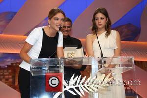 Abdellatif Kechiche, Lea Seydoux and Adele Exarchopoulos - 66th Cannes Film Festival - Inside Closing Ceremony - Cannes, France -...