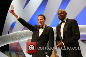 Amat Escalante and Forest Whitaker