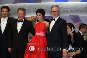 Orlando Bloom, Ang Lee, Audrey Tautou and Steven Spielberg