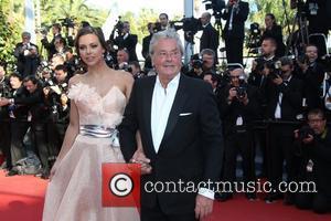 Alain Delon and Marine Lorphelin