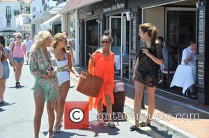 Chelsee Healey - Chelsee Healey is seen out and about in an orange caftan in  Puerto Banus during her...
