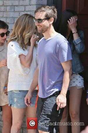 Tobey Maguire - Celebrities leaving Joel Silver's Memorial Day Party at his home in Malibu - Los Angeles, CA, United...