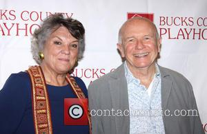 Tyne Daly and Terrence McNally - Bucks County Playhouse 2013 Summer Season Meet and Greet, held at the Signature Theatre....