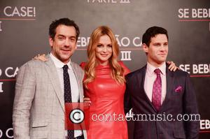 Heather Graham, Todd Phillips and Justin Bartha