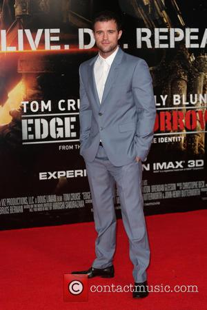 Jonas Armstrong - World premiere of 'Edge Of Tomorrow' held at the BFI IMAX - Arrivals - London, United Kingdom...