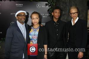 Spike Lee, Tonya Lewis Lee, Satchel Lee and Jackson Lee