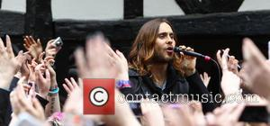 30 Seconds to Mars - 30 Seconds to Mars busking in Soho Square to promote their new album 'Love Lust,...