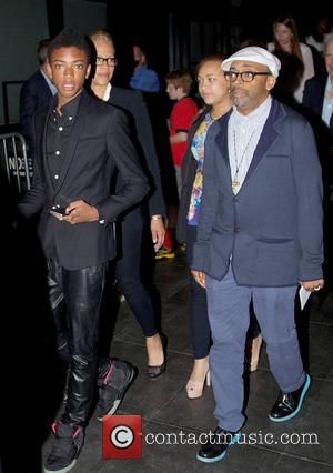 Spike Lee - New York premiere of 'After Earth' held at the Ziegfeld Theatre - Departures - New York City,...