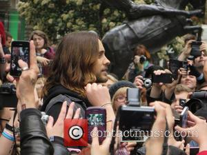 Jared Leto - Jared Leto from 30 Seconds to Mars busking at Soho Square - London, United Kingdom - Thursday...