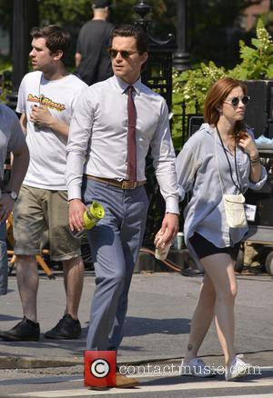 Matt Bomer - Matt Bomer and Tiffani Thiessen film scenes for USA Network's television series 'White Collar' on location in...