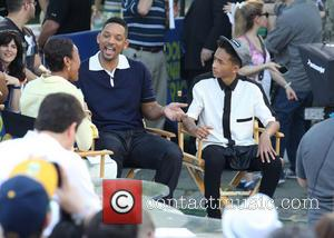 Will Smith, Jaden Smith and Robin Roberts