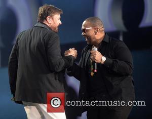 Simon Le Bon and Timbaland - 'The Sound of Change Live' concert at Twickenham Stadium - London, England, United Kingdom...