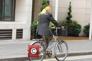 Vivienne Westwood - Vivienne Westwood spotted cycling through Mayfair - London, United Kingdom - Saturday 1st June 2013