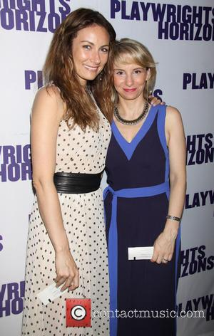 Laura Benanti and Sarah Saltzberg - Opening night of the Off-Broadway musical 'Far From Heaven' held at the Playwrights Horizons...