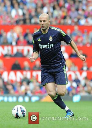 Zinedine Zidane - Man Utd legends vs Real Madrid legends at Old Trafford - Manchester, United Kingdom - Sunday 2nd...