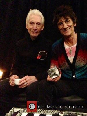 Ronnie Wood and Charlie Watts