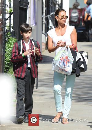 Melanie Sykes - Melanie Sykes and son out and about in Hampstead - London, United Kingdom - Monday 3rd June...