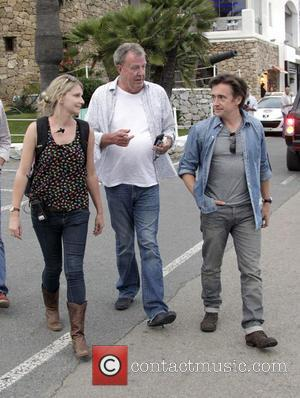 Richard Hammond and Jeremy Clarkson - BBC Top Gear filming an episode in Puerto Banus, the first stop of a...