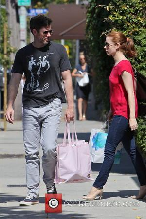 Darren Le Gallo and Amy Adams - Amy Adams and Darren Le Gallo seen leaving a gym separately and head...