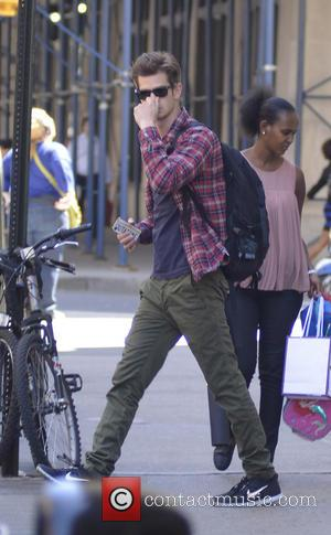 Andrew Garfield - Andrew Garfield head to 'The Amazing Spider-Man 2' filmset - New York City, NY, United States -...