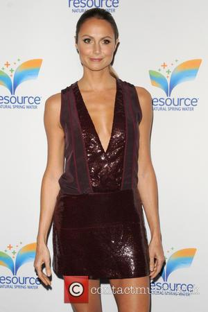 Stacy Keibler - Celebrities attend the launch of 'Resource' Natural Spring Water hosted by Alyssa Milano -Arrivals - New York...